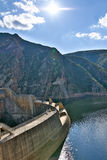 Just. The Kouga Dam is an arch dam on the Kouga River about 21 km west of Patensie in Kouga Local Municipality, South Africa stock photos