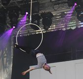 Just for Laughs Festival  circus acrobat Stock Photo
