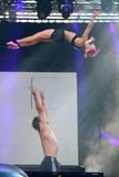 Just for Laughs Festival  couple acrobats Royalty Free Stock Image