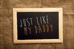 Just like my daddy Royalty Free Stock Photography