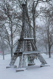 Just like Paris. Winter in Kaliningrad and some snow on the ground Stock Photo