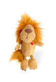 Just Lion. Little pretty stuffed lion over white background Royalty Free Stock Photo