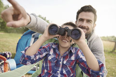 Just look there! Stock Images