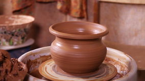 Just made Potter's pot close-up stock video footage