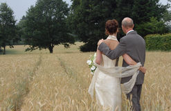 Just married. Couple Stock Photo