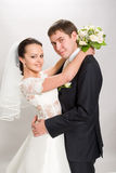Just married. Married on the white background Stock Image