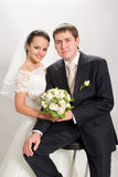 Just married. royalty free stock photography