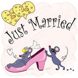 Just Married. The newly married couple of mouses Stock Photos