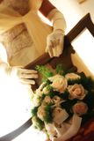 Just married. Flowers of the bride,just married Stock Photography