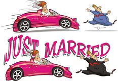 Just married Royalty Free Stock Image