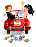 Just married royalty free illustration