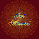 Just married board Royalty Free Stock Photography