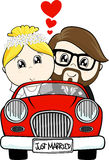 Just married bride and groom Royalty Free Stock Photo