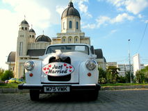 Just married car Royalty Free Stock Photography