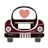 Just married car Royalty Free Stock Photo