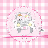 Just married cartoon Royalty Free Stock Image