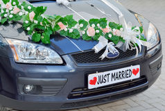 Just married Stock Image