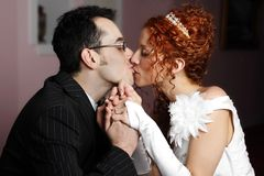 Just married couple Stock Photography