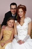 Just married couple with children Stock Photos