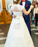 Just married couple dancing Royalty Free Stock Photo