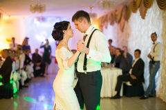 Just married couple dancing Stock Photos