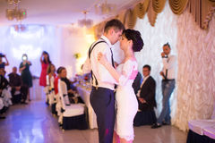 Just married couple dancing Stock Photography