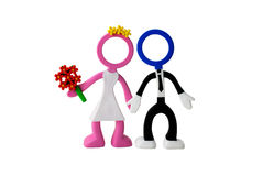 Just-married couple dolls Royalty Free Stock Image