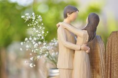 Just married couple figurine stock image