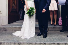 Married couple outside Church royalty free stock image