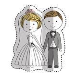 Just married couple icon Stock Images