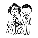 Just married couple icon Stock Image