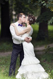 Just married couple kissing Royalty Free Stock Photo