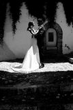 Just married couple in urban background Stock Photos