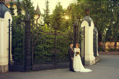 Just married couple Royalty Free Stock Photography