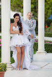 Just married in day of them wedding Stock Image