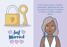 Just married design Stock Photo