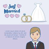 Just married design Stock Photography
