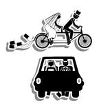 Just married. Design over white background vector illustration Stock Photography