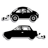 Just married. Design over white background vector illustration Royalty Free Stock Photography