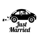 Just married. Design over white background vector illustration Royalty Free Stock Images