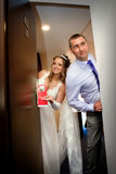 Just married do not disturb sign Stock Photos