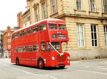 Just Married Double Decker Bus. Just married red double decker bus in England Stock Images
