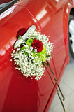 Just Married - Flower Wedding Bouquet Royalty Free Stock Image