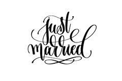 Free Just Married Hand Lettering Inscription Positive Quote Royalty Free Stock Image - 103350126