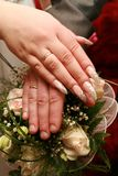 Just Married - Holding Hands Stock Images
