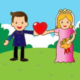Just married. I love you Illustration of wedding Royalty Free Stock Photos