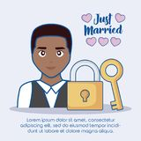 Just married design Stock Photos
