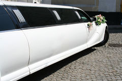 Just Married limousine. Beautiful car - Just Married limousine Royalty Free Stock Images