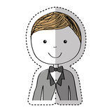 Just married man drawing. Vector illustration design Stock Image