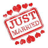 Just Married Means Tenderness Devotion And Wed Royalty Free Stock Photo